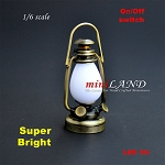 1:6 scale Nostalgia oil lamp  LED Super bright with On/off switch