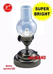 Trad. Hurricane black Lamp LED Super bright with On/off switch