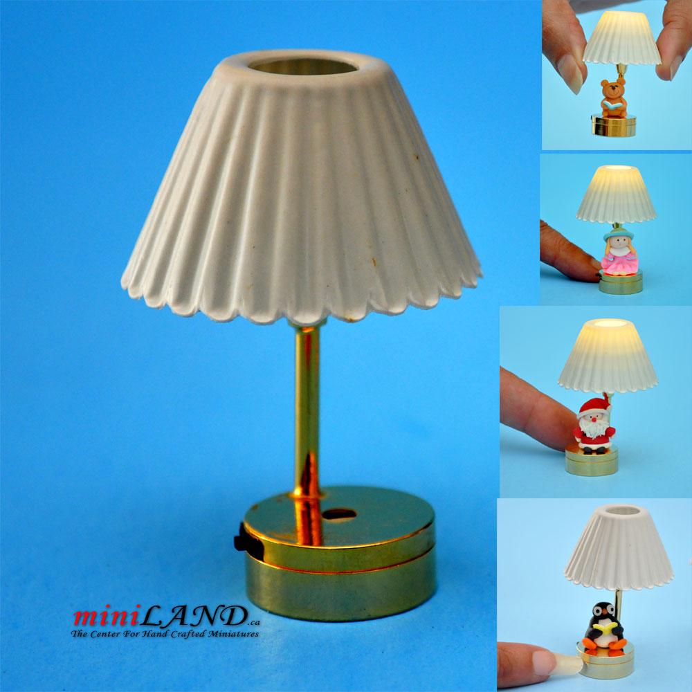DIY table LED LAMP light battery 1:12 Glue your figure on ...