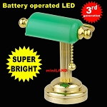 Desk light w/green shade  LED Super bright with On/off switch for 1:12 scale dollhouse miniature