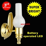 Brass white wall sconce lamp LED Super bright with On/off switch