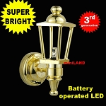 Brass Carriage Lamp Sconce Super bright with On/off switch 1:12 dollhouse miniature