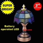 Colored copper Tiffany lamp LED Super bright with On/off switch