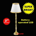 Brass floor lamp  LED Super bright with On/off switch for 1:12 dollhouse miniature