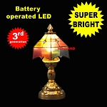 Colored Tiffany lamp LED Super bright with On/off switch