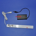 Batteries Box + long Power bar for LED lights (Option)