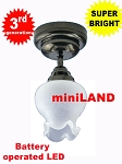 Black Sm Frost Tulip Ceiling Lamp LED Super bright with On/off switch 1:12 scale
