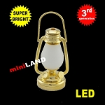 1:6 scale brass oil lamp  LED Super bright with On/off switch