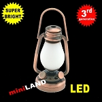 1:6 scale copper oil lamp  LED Super bright with On/off switch