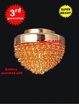 Gold ceiling lamp LED Super bright with On/off switch 1:12 scale