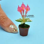 Handmade flowers plant in Terracotta Pot Dollhouse Miniatures  FL030
