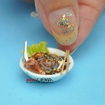 A bowl of soup dollhouse miniature 1:12 scale Handmade FND04