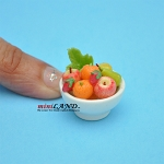 Assorted Fruit Bowl dollhouse miniature 1:12 scale Handmade FR2