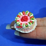 Fruits cake 1:12 dollhouse miniature handmade Bakery food S072