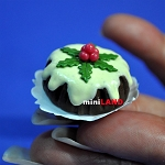 Christmas Pudding cake 1:12 dollhouse miniature handmade Bakery food S66