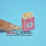 Popcorn for dollhouse miniature 1:12 scale Handmade pop corn
