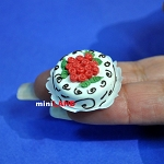 Christmas Fruits cake 1:12 dollhouse miniature handmade Bakery food SP44