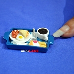 Breakfast on tray coffee egg 1:12 Scale dollhouse miniature handmade food TFF23