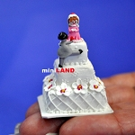 Wedding Cake for 1:12 Scale dollhouse miniature handmade polymer clay wcb6