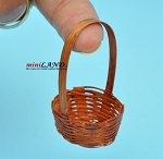 Wicker Baskets for bread or flowers,  vegetables dollhouse miniature