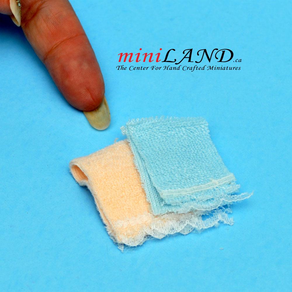 DOLLHOUSE MINIATURE  HAND-MADE    TOWEL SEt..2 PCS