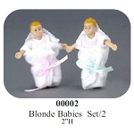 BLONDE 2pc BABIES vinyl doll 2