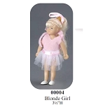 BLONDE GIRL  with OUTFIT vinyl doll 3