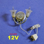 Clearance SALE 12V Dbl Wall Sconce grey dollhouse miniature 1:12 scale 1/12