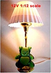 Clearance SALE Child's Lamp Teddy Bear 12v dollhouse miniature1:12 light