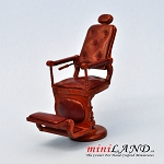 Quality barber chair for 1:12 scale dollhouse miniature