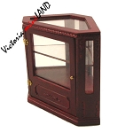 Clearance sale - Corner Shop store Counter unite for 1:12 dollhouse miniature DISPLAY CABINET wood walnut 2