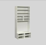 Clearance SALE - Half Scale 1:24 - Living Room/Bedroom   -  Tall dresser w shelves