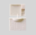Clearance SALE - Half Scale 1:24 -  2pcs. Traditional Sink and mirror