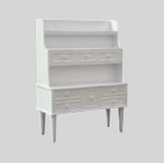 Clearance SALE - Half Scale 1:24 -  Dresser Chest with Shelves