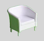 Clearance SALE - Half Scale 1:24 -  2pcs. Lounge chairs