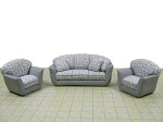 Clearance SALE - Half Scale 1:24 -  Polymer Clay Living Room Set - White/Gray
