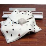 Clearance SALE - Quarter Scale 1:48 -  Polymer Clay White Polka Dot Bed