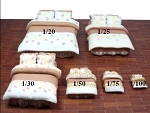 Clearance SALE - Quarter Scale 1:48 -  Polymer Clay Polka Dot Bed