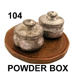 POWDER BOX 2pcs 1/4