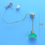 Clearance SALE hanging green ceiling Lamp 12v dollhouse miniature 1:12 light