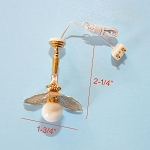 Clearance SALE flower ceiling Lamp 12v dollhouse miniature 1:12 light