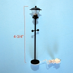 Clearance SALE black street Lamp 12v dollhouse miniature 1:24 scale light