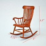 Victorian Windsor Rocking Chair for Dollhouse miniature 1:12