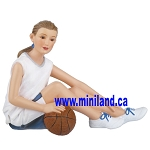 Anna - Resin Doll for 1:12 Dollhouses  basketball girl