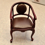 Clearance sale -  HighEnd Curved Arm Chair 3031WN 1:12 scale dollhouse miniature