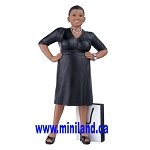 Ella - Resin Doll for Dollhouses smiling black woman
