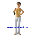 Carol - Resin Doll for Dollhouses  1:12 scale