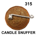 COLLONIAL CANDLE SNUFFER  unfinished DIY metal miniature for dollhouse - Do it yourself