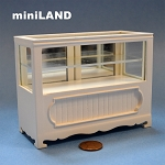 Clearance sale - Shop store Counter unite for 1:12 dollhouse miniature DISPLAY CABINET wood White 4.5