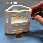 Clearance sale - Corner Shop store Counter unite for 1:12 dollhouse miniature DISPLAY CABINET wood White 2